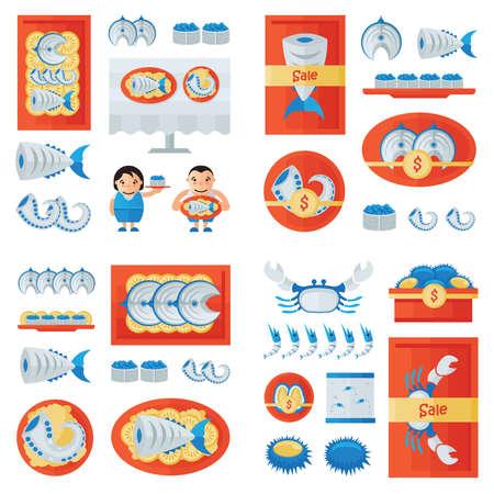 fresh seafood: fresh Seafood infographic
