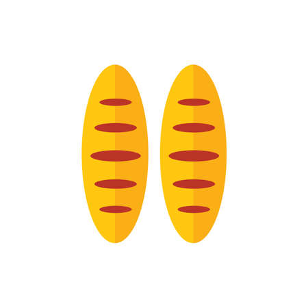 life loaf: French bread cartoon  yellow color