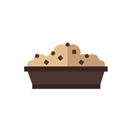 color tone: box lunch icon brown color tone