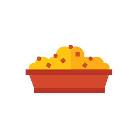color tone: box lunch icon  yellow color tone Illustration