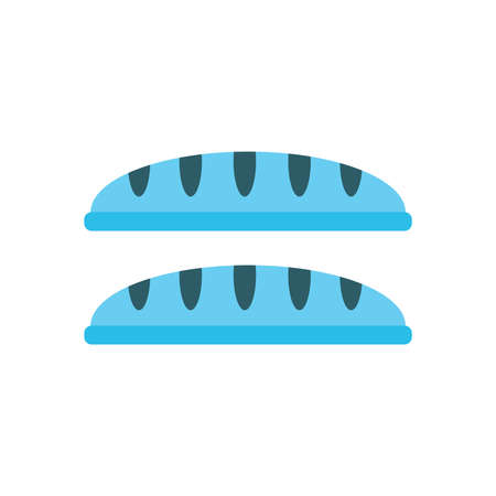 crust: French bread blue color Illustration