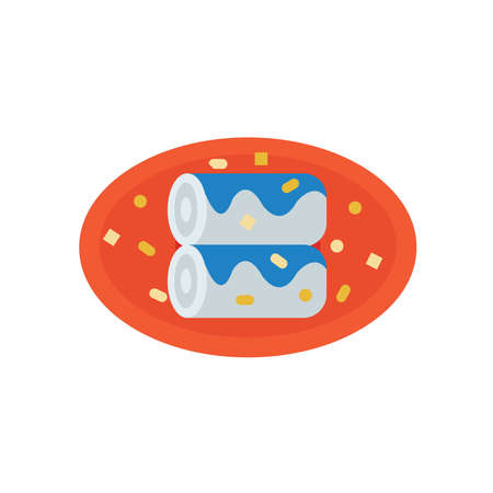 life loaf: French bread blue color Illustration
