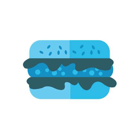 life loaf: burger cartoon icon blue