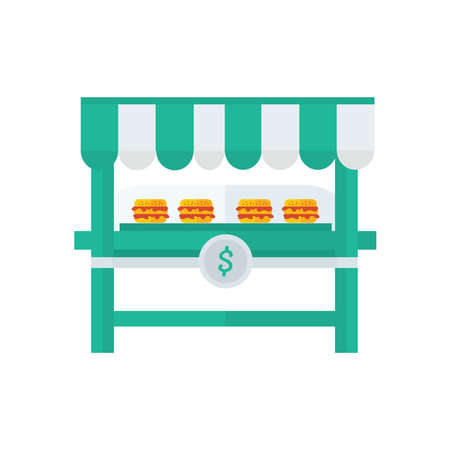 life loaf: burger cartoon shop, yellow Color