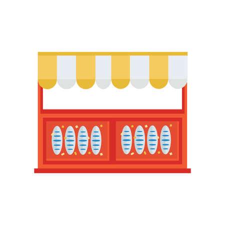 bread shop: french bread shop icon