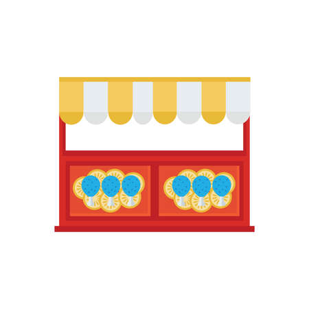 chicken wing: chicken wing hot grill shop icon Illustration