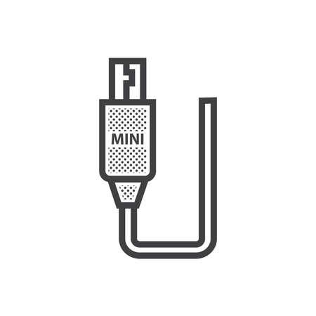 Mini-HDMI-Adapter-Symbol punktierte Art Standard-Bild - 75934400