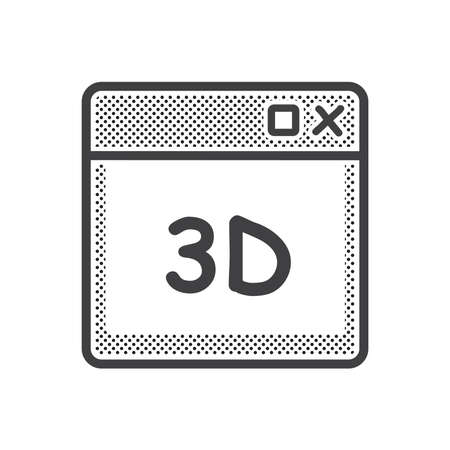 dotted 3D print window icon
