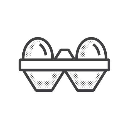 egg Farm icon dotted design Illustration