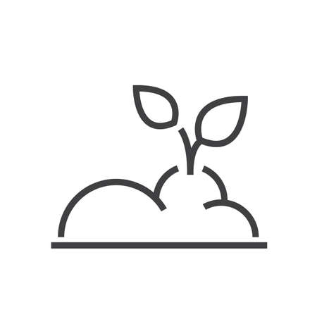 plant Farm icon line style Illustration