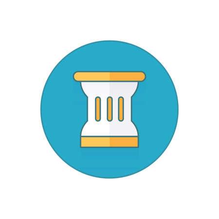 Ancient columns icon button.