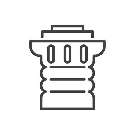 roman column: Ancient columns line icon.