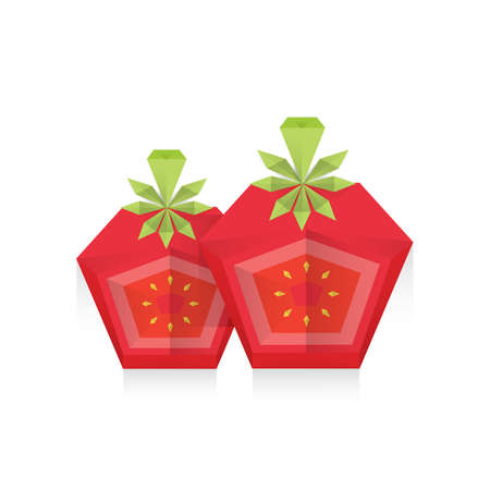 dissect: dissect Tomato 3D Origami Icon