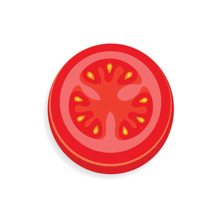 tomato Sliced icon and food vector