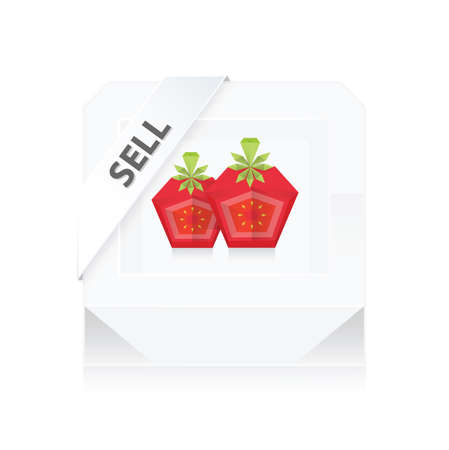 dissect: Sell Box dissect Tomato 3D Origami Icon