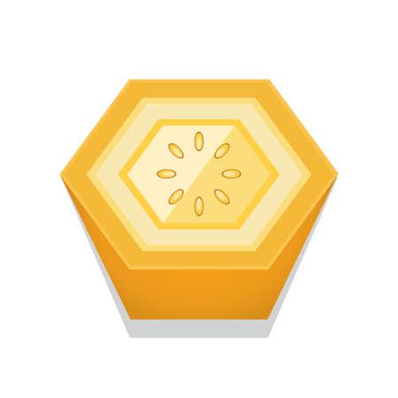 Zitrone 3D Button Design Standard-Bild - 75610962