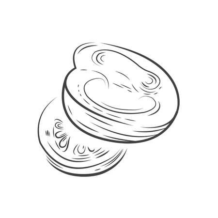 Tomaten Vektor Zeichnung Design Standard-Bild - 75432459