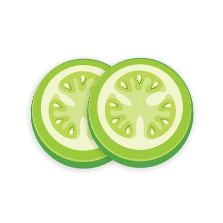 Grüne Tomate 3D Icon Standard-Bild - 75442359