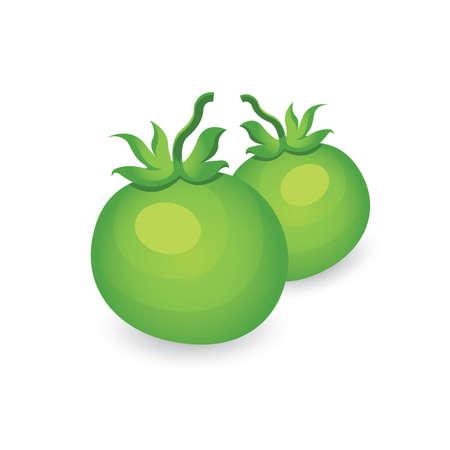 Green two Tomato 3D Icon