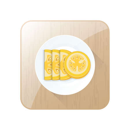 Tomato Yellow Sliced Color icon and button