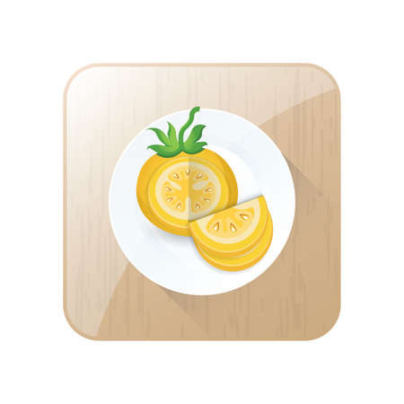 dissect: dissect Tomato Yellow Color icon and button
