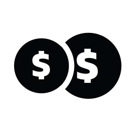 icon coin symbol vector design Ilustração