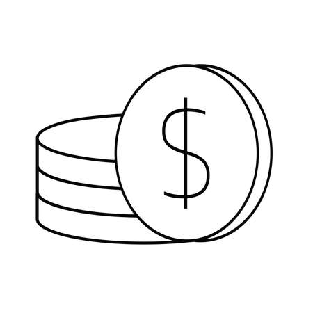 Simple icon coin symbol vector