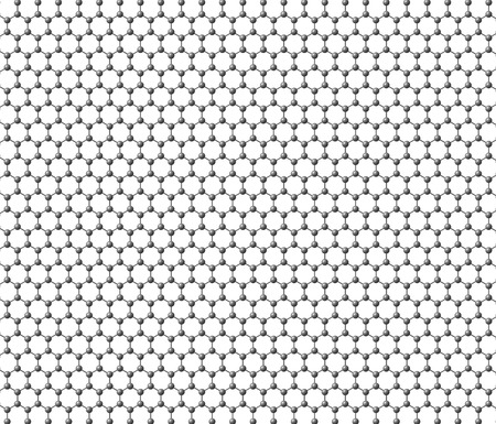 Graphene sheet on a white background photo