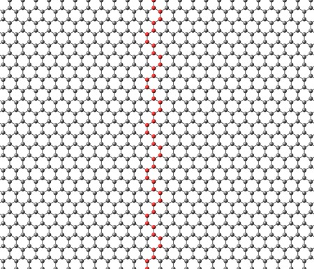Graphene sheet with a red separator strip on a white background photo
