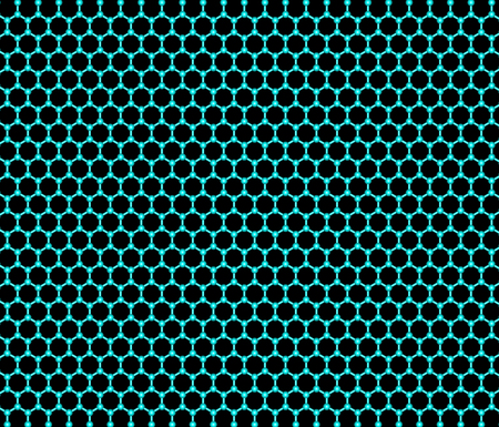 Graphene sheet on a black  background photo
