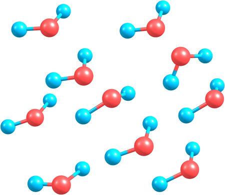 Water molecules Imagens