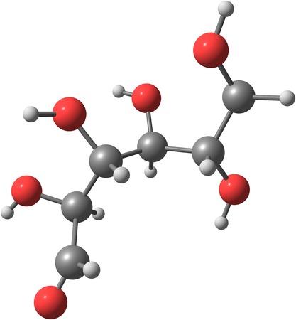 Glukose-Modell auf weiß Standard-Bild - 24479094