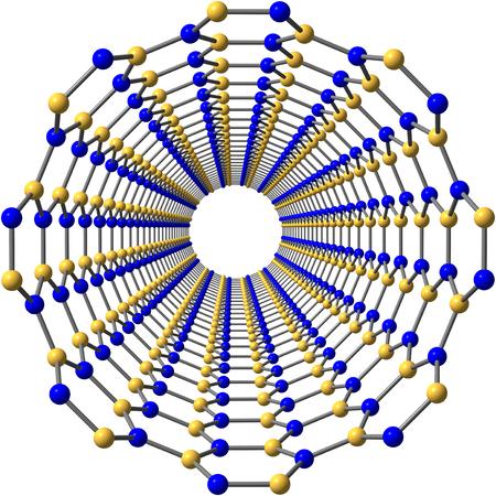 nanotube: Boron nitride nanotube on white