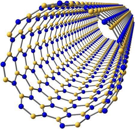 boron: Boron nitride nanotube on white