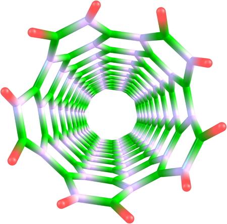 boro: El nitruro de boro de nanotubos en blanco Foto de archivo