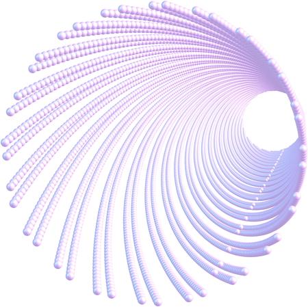 nanotube: Vortex shape carbon nanotube on white backgroundnitride nanotube on white Stock Photo