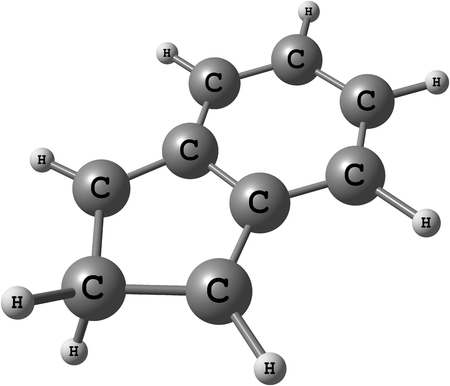 fused: 2H-indene  Isoindene  is a flammable polycyclic hydrocarbon with chemical formula C9H8  It is composed of a cyclohexadiene ring fused with a cyclopentadiene ring
