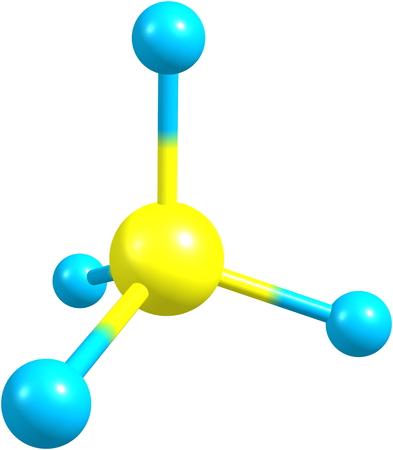 Methane molecule on white Stock Photo - 25632345