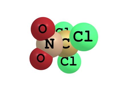 살균제: 또한 PS로 알려진 클로로피크린은 현재 광범위한 스펙트럼 항균, 살균제, 제초제, 살충제, 그리고 그것의 화학 구조식을 선충로 사용되는 화합물이다 Cl3CNO2입니다