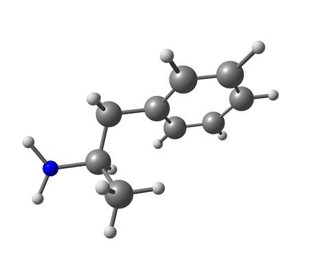 amphetamine: Dextroanfetamina es un psicoestimulante y anfetamina estereois�mero potente prescrita para el tratamiento del trastorno de d�ficit de atenci�n e hiperactividad (TDAH) en ni�os y adultos, as� como para un trastorno del sue�o conocido como narcolepsia Foto de archivo