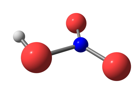corrosive: Nitric acid (HNO3), also known as aqua fortis and spirit of niter, is a highly corrosive strong mineral acid.