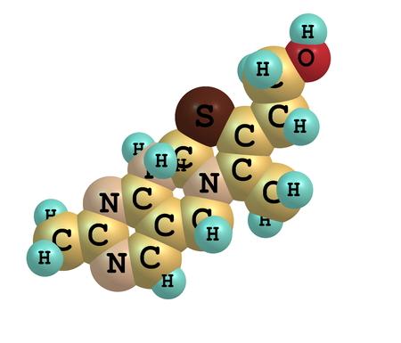 Thiamin oder Thiamin oder Vitamin B1 ist ein wasserlösliches Vitamin des B-Komplexes. Standard-Bild - 28174798