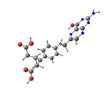 葉酸は水溶性ビタミン B9 のフォーム 写真素材