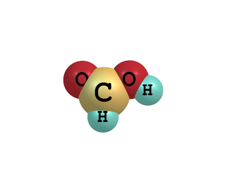 simplest: Formic acid (methanoic acid) is the simplest carboxylic acid. Its chemical formula is HCOOH or HCO2H Stock Photo