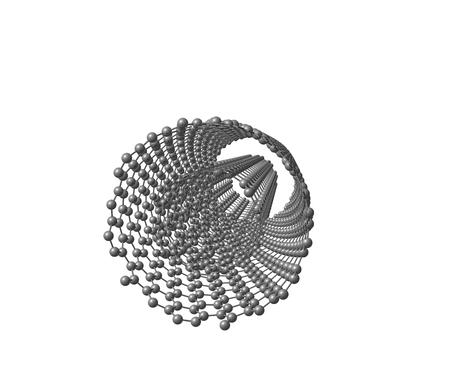 nanotube: Double-walled carbon nanotube  DWNT  on white
