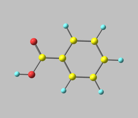 Benzoic acid (C7H6O2) is a colorless crystalline solid and a simple aromatic carboxylic acid