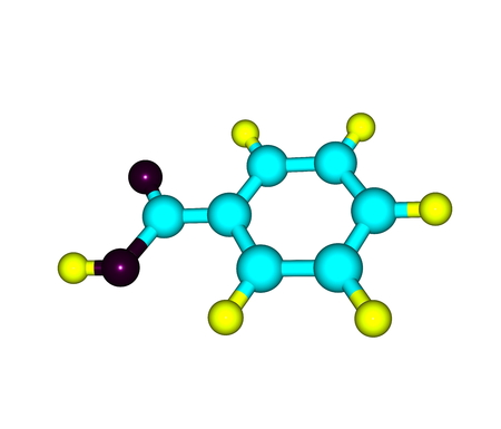 benzoic: Benzoic acid (C7H6O2) is a colorless crystalline solid and a simple aromatic carboxylic acid