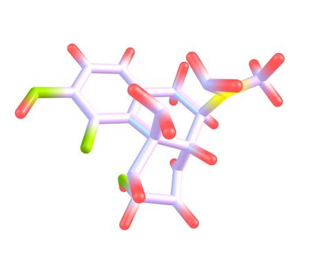 Morphine molecule isolated on white Stock Photo