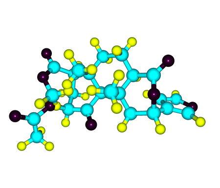 entheogen: Salvinorin molecule isolated on white