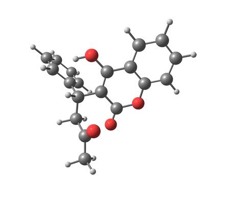 anticoagulant: La warfarina (Coumadin, Jantoven, Marevan, Uniwarfin) es un anticoagulante usado normalmente en la prevenci�n de la trombosis y la tromboembolia Foto de archivo